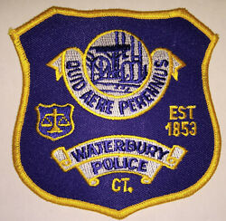 Waterbury Connecticut Police Patch // Free Us Shipping