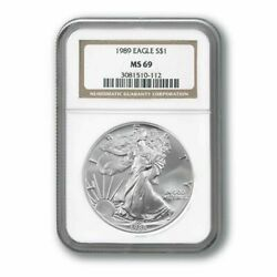 1989 1 American Silver Eagle Ngc Ms69 Better Date Sequential