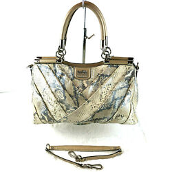 Coach Madison Pinnacle Exotic Carrie Bag In Snakeskin Leather 21316 Orig 698