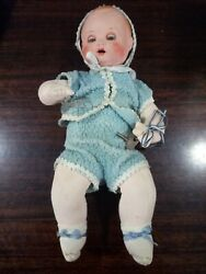 Rare Antique German Schoberl And Becker Doll With Key