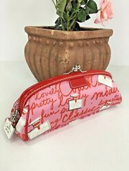 Coach Cosmetic Bag Brush Perfume Bottles Pink Framed Kisslock 40522 M3 $69.99