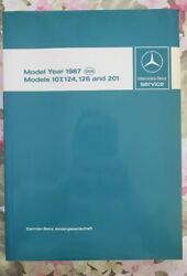 Mercedes-benz Service Manual Technical Engine Year 1987 Models 107124126201