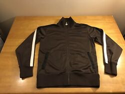 The North Face TNF Zip Up Track Jacket Casual Mens Size Medium Brown $19.99