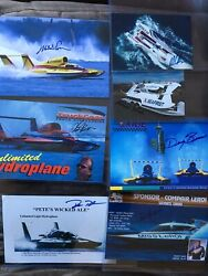7 Miscellaneous Hydroplane Signed Photos Hydro Plane Racing Autographed Racers