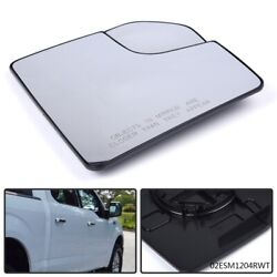 Mirror Glass With Spotter Passenger Side Fit For 2015-18 Ford F150 Pickup Truck