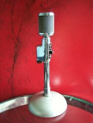 Vintage Rare 1950and039s Astatic K-2s Crystal Microphone Old W Period Shure Stand