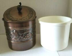 Vintage Antique Brushed Brass Ice Bucket W/pineapple Lid View Details