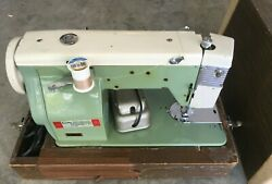 Precision Built De Luxe Vintage Sewing Machine Made In Japan W/case Restored