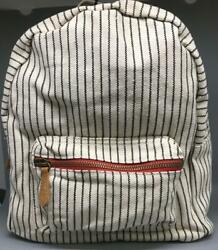 NWT Hearth and Hand Magnolia Mini Backpack Purse Stripped w 2 Compartments $11.40