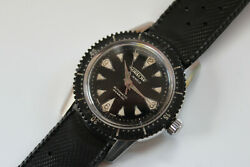Freshly Serviced 1960and039s Aureole Nautilus Maxi Dial Fat Lume Diver