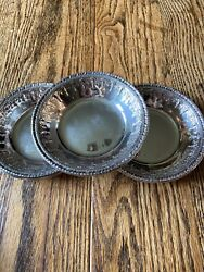 3 Vintage Reed And Barton 1202 Silver Plate Bowl Dishes 6 Wideandnbspeuc