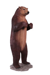 Bear Grizzly Standing Forest Prop Life Size Decor Resin Statue