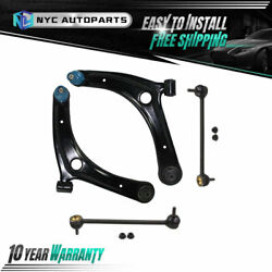 2 Front Lower Control Arm + 2 Front Sway Bar Link For 07-17 Jeep Patriot Compass