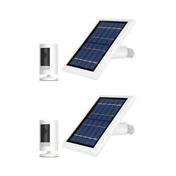 Ring Stick Up Cam Battery With Solar Panel Bundle Deal Camera 2 Pack White
