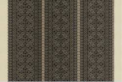 Clarence Housefez Ethnic Chic Embroidered Upholstery Fabric Fabric 5yards Nero