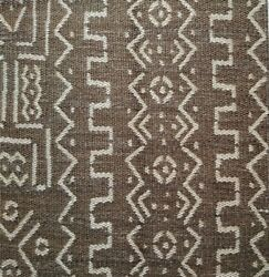 Clarence House African Inspired Mud Cloth Woven Upholstery Fabric 5 Yards Brown