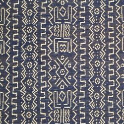 9w Clarence House African Inspired Mud Cloth Woven Upholstery Fabric 5yards Blue