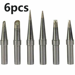 6 Pcs Soldering Iron Tips For Weller We1010na Wesd51 Wes50/51 Replacement Parts