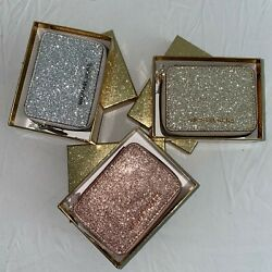Michael Kors Glitter Giftables Pill Case Box Rose Gold Pale Gold Silver Leather $47.25