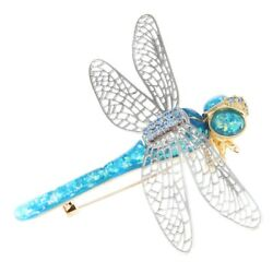 30X(Fashion Dragonfly Brooch Imitation Insect Men and Women Animal Brooches E9T3