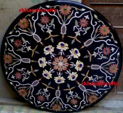36 Inches Marble Coffee Table Top Dining Table Pietra Dura Art By Flowers Design