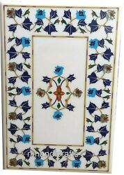 36 X 48 Inches Marble Center Table Inlay Dining Table Top With Pietra Dura Art