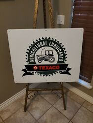 Texaco Tractor Sign New Old Stock With Box