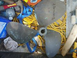 Boat Propeller Brass 23x24x1.75. Lh Rotation. Excellent Condition.