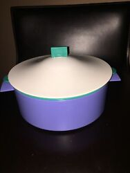 Tupperware Large 9 Microsteamer Colander Rice Cooker Teal/white/blue 3pcs