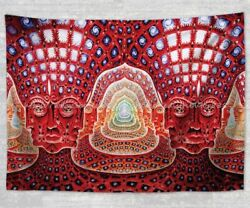 psychedelic trippy fractal hippie tapestry wall hanging large cloth poster