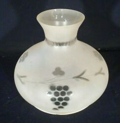 Antique Cut And Frosted Tam-o-shanter Glass Light Shade