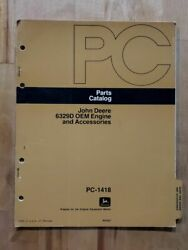 John Deere Parts Catalog Manual Pc - 1418 6329d Oem Engine And Accessories