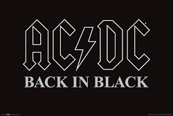 AC DC Back in Black Poster 36quot; x 24quot;
