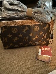 Montana West Signature Monogram Crossbody Perfect Bag For Riding Or Out amp; about $22.50