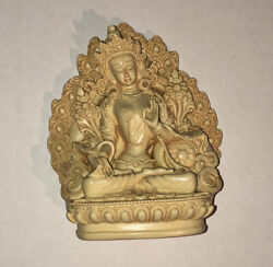 WHITE TARA#x27;S BLESSING BEAUTIFUL DETAIL HAND CRAFTED USA TIBETAN BUDDHIST STATUE $14.99