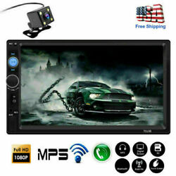 7inch 2 Din Car Stereo Radio Mp5 Player Bluetooth Touch Screen Hd + Rear Camera