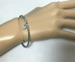 David Yurman Sterling Silver 925. Cable Collectibles Heart Lock Bracelet