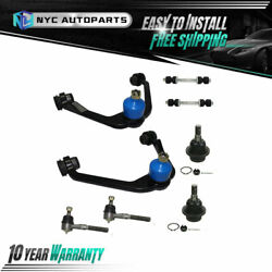 8pc Front Lower Control Arms Outer Tie Rod Sway Bar For 97-02 Expedition F-150