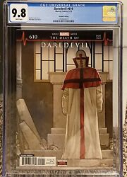 Daredevil 610 2nd Print Cgc 9.8 White Pages - 1st Appearance Of Vigil Low Print