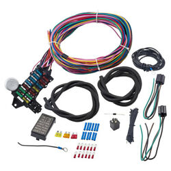 Universal 12-14 Circuit Wiring Harness 14 Fuse Gxl Wire Hot Street Rod Heater