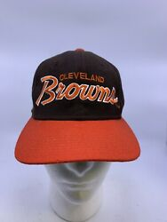 Vintage Cleveland Browns Sports Specialties Script Fitted Wool Hat Size 6 3/4