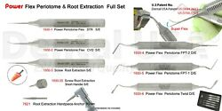 Power Flex Periotome And Root Extraction Full Set Of 8 Mod 1930-fs