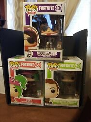 Funko Pop - Fortnite Lot - Moonwalker Tower Recon Specialist And Zoey