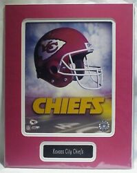 Kansas City Chiefs Nfl Photo Custom Matted And Name Plate 11x14 Ready To Frame C70