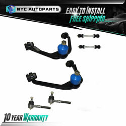 Front Upper Control Arm + Tie Rod + Sway Bar Link For Expedition F-150 F-250 2wd