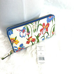 Nwt Printed Floral Zip Continental Wallet 46438 Retail 238