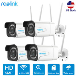 4pcs 5mp Wifi Security Camera Audio Recording 4x Optical Zoom Reolink Rlc-511w