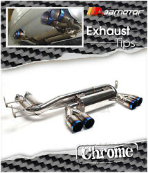 Stainless Steel Titanium Tip Rear Catback Exhaust System 3 Tip Fits Bmw E46 M3