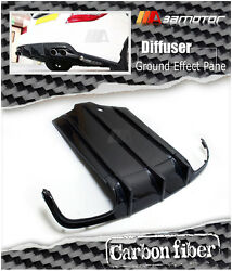 Bumper Carbon Rear Diffuser Ground Panel Fits Mercedes W204 C63 Pre-facelift Amg