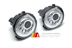 M Style White Led Chrome Headlight Lamps Lhd Fit For 10-15 Mercedes W463 G-wagon